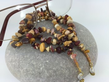 Moukaite Chip Gemstone Glasses Chain