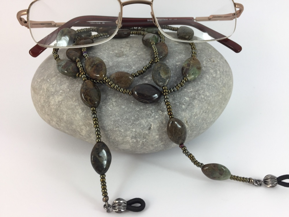 Snake Skin Jasper Glasses Chain