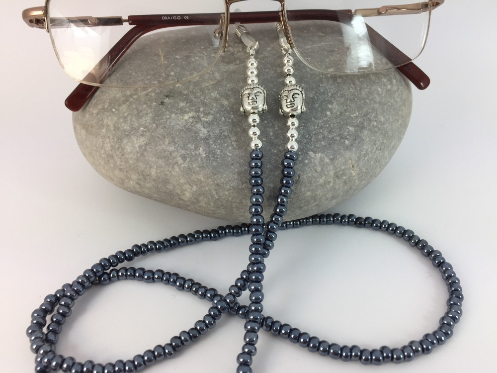 Gunmetal Buddha Glasses Chain