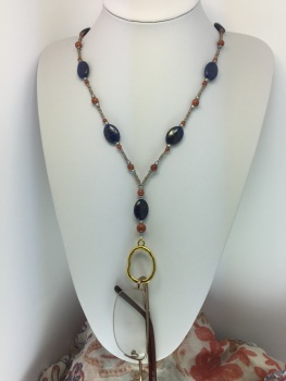 Lapis Blue & Goldstone Glasses Holder