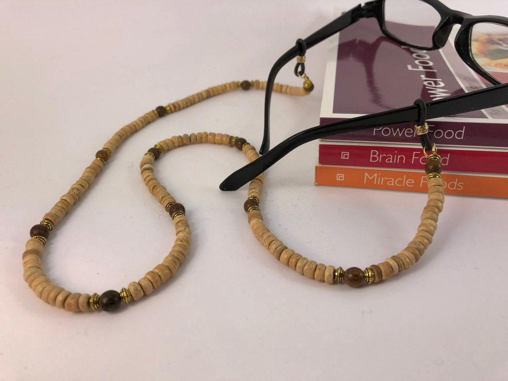 Natural Wood Tibetan Glasses Chain