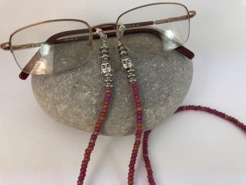 Iridescent Pink Buddha Glasses Chain