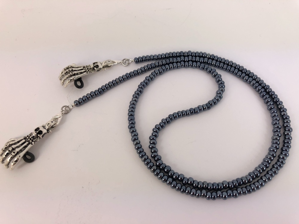 Glass Beaded Chain with or Without Detachable Skeleton Hands