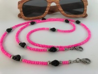 Hot Pink Skull Glasses Chain
