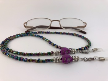 Rainbow Purple Skull Glasses Chain
