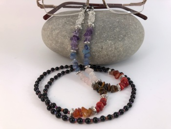 Black Onyx Bead Chakra Glasses Chain