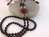 Red Skull Lava Bead Glasses Chain