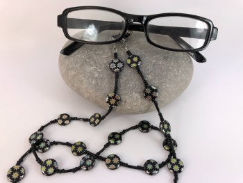 Black Vacuum Plated Coloured Stars Glasses Chain