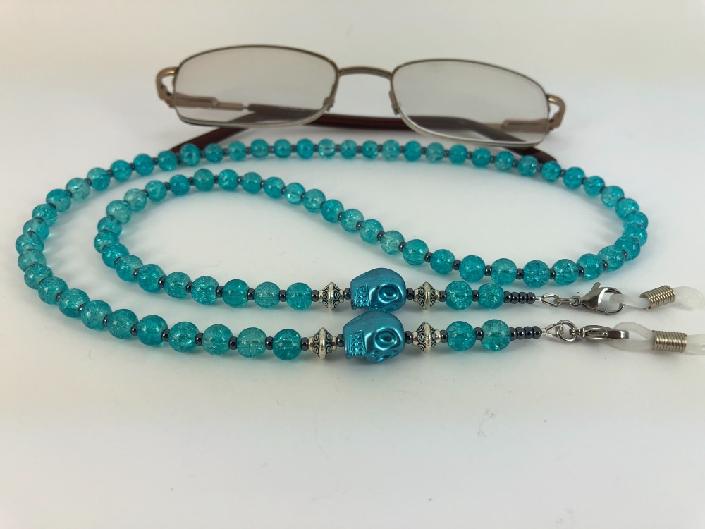 Metallic Skull Glasses Chain