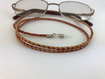 Braided Leather Glasses Chain