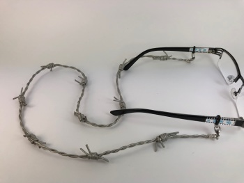 Barbed Wired Effect Leather Glasses Chain