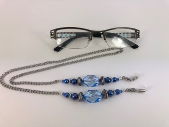 Blue Beaded Glasses Chain