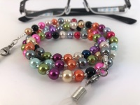 Multi Coloured Glass Pearl Glasses Chain