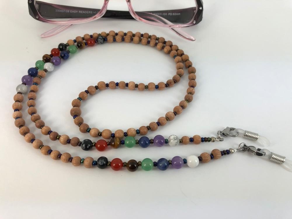 Rosewood Chakra Glasses Chain