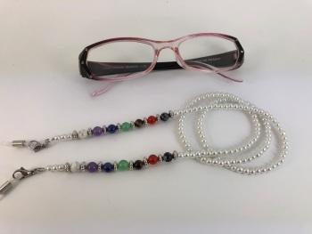 White Chakra Glasses Chain