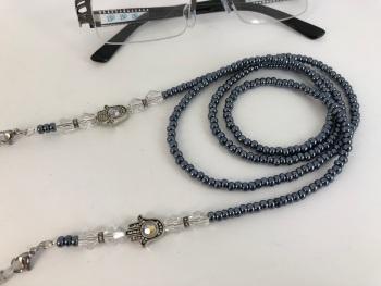 Hamsa Hand Dimante Glasses Chain