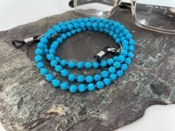 Turquoise Lava Bead Glasses Chain