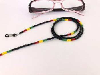 Rasta Seed Bead Glasses Chain