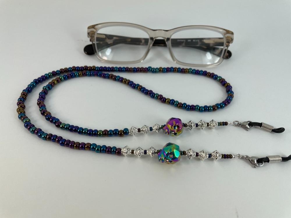 Rainbow Skull Glasses Chain