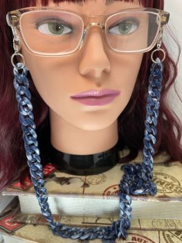 Blue  Acrylic  Link Glasses Chain