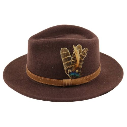 Fedora Hat - Brown