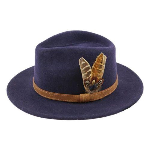Fedora Hat - Navy Blue
