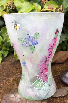 Wildflower and bee vase