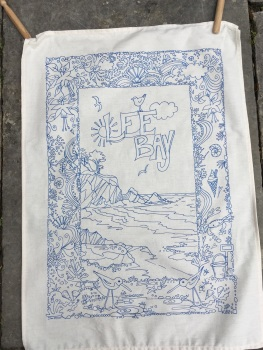 Lee bay Tea towel
