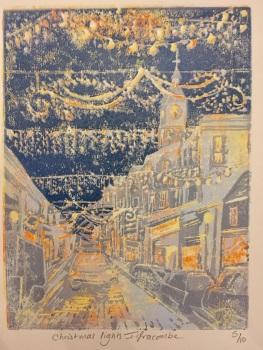 Christmas lights , Ilfracombe