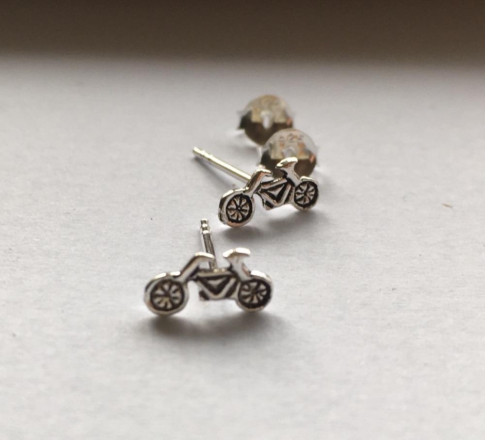 Bicycle stud earrings