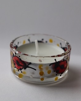 Ladybird candle holder