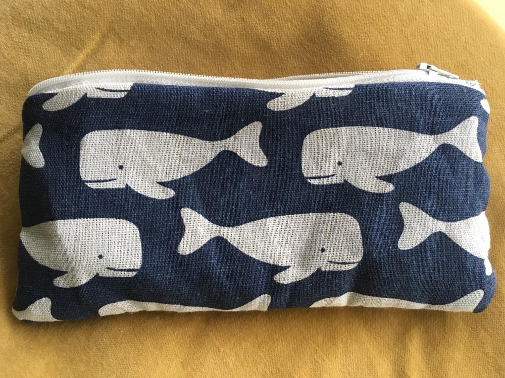 Blue whale pencil case