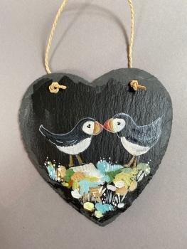 Puffin slate heart  (no1)