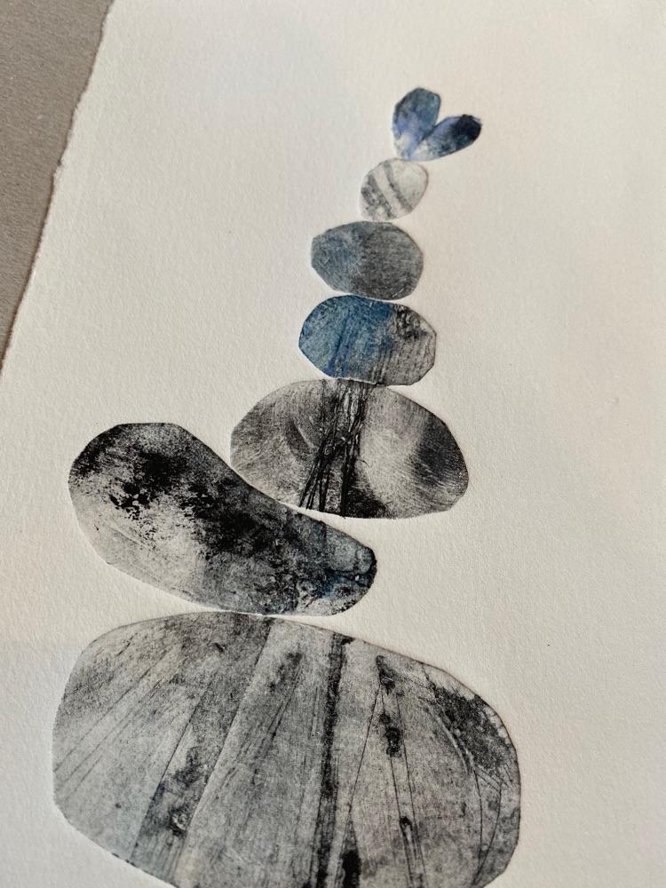 Pebble stack prints