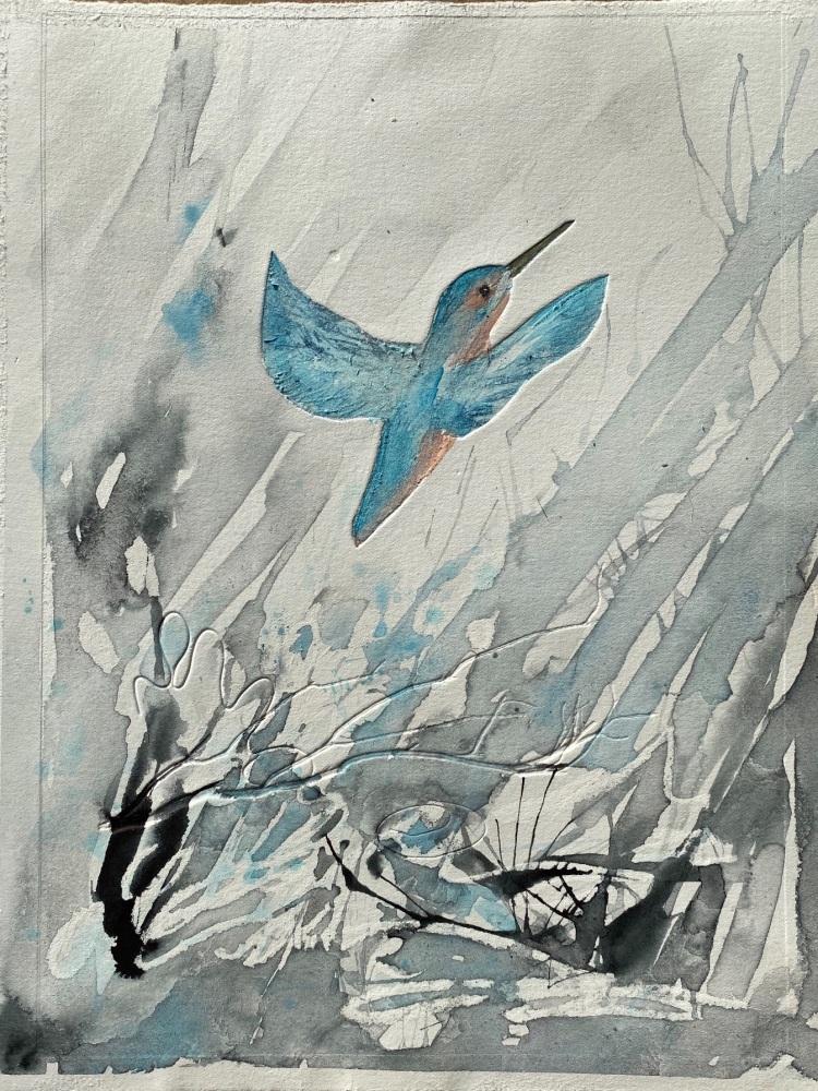 Kingfisher , flying