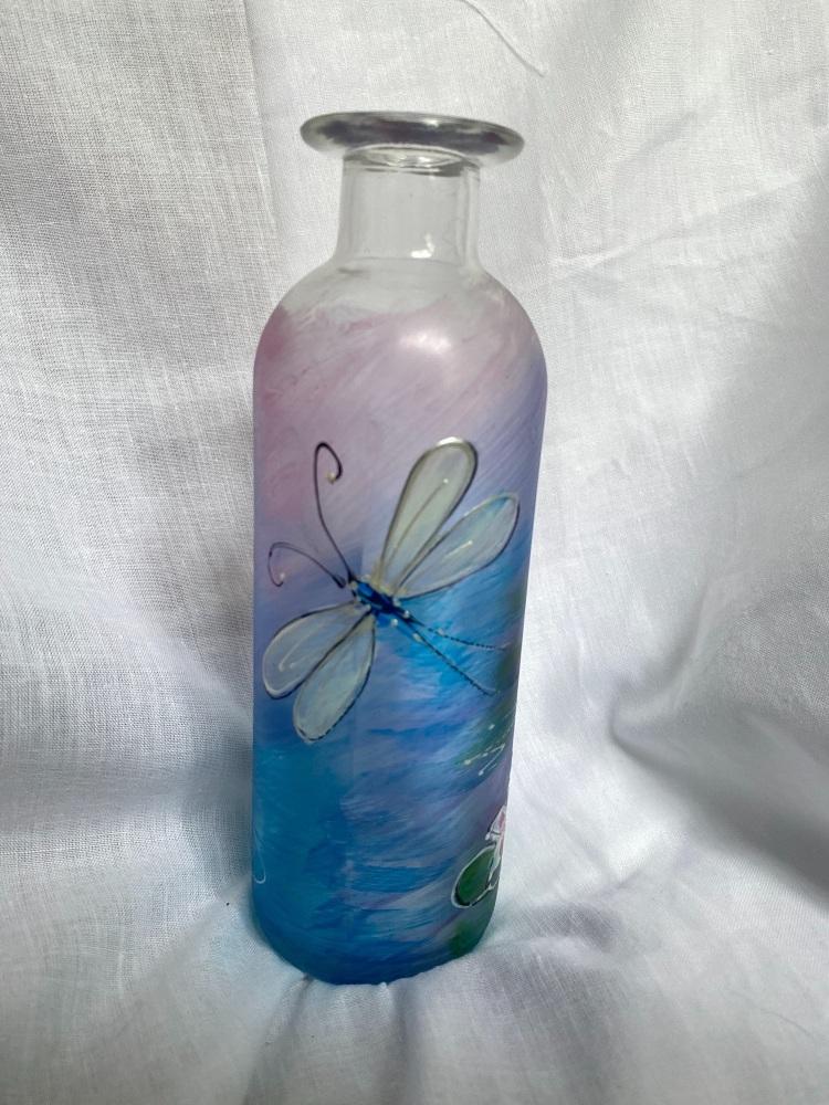 Dragonfly bottle vase
