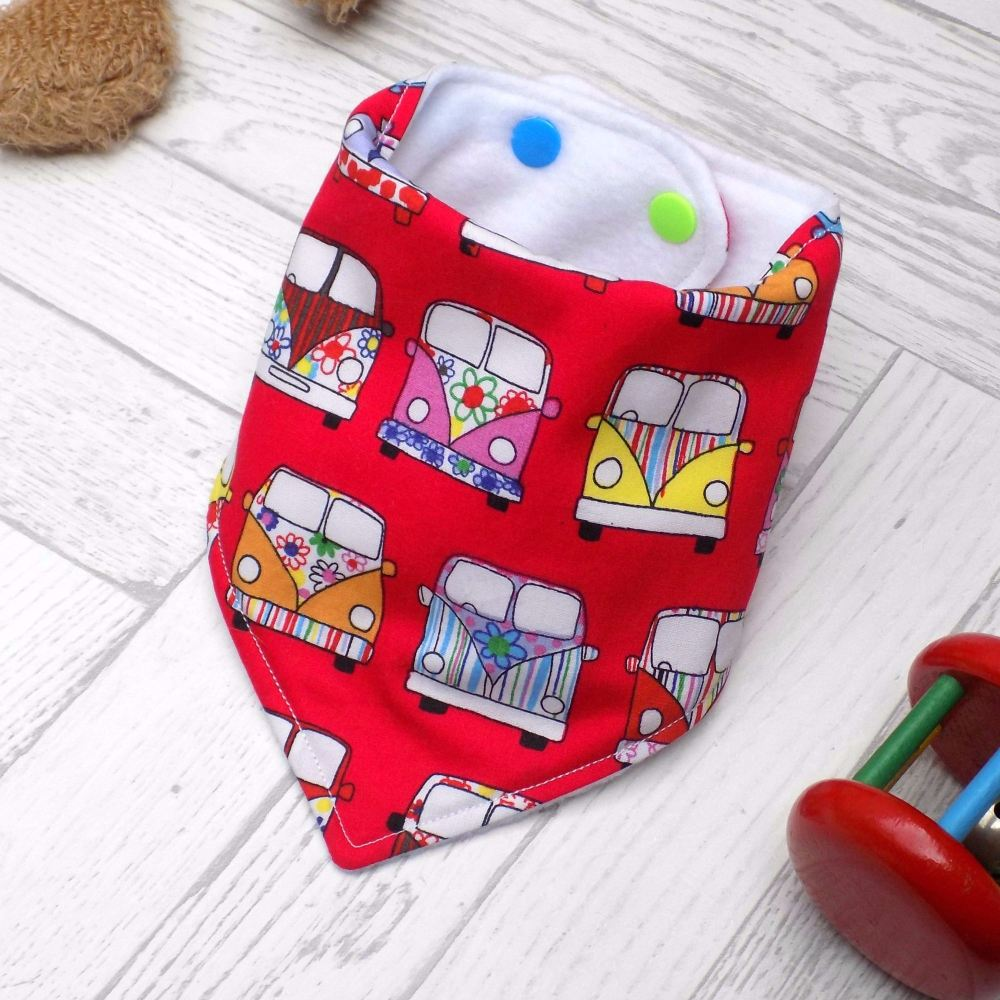 Red Campervan Bandana Bib