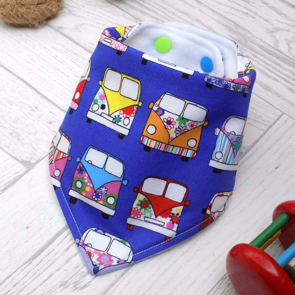 Royal Blue Campervan Bandana Bib