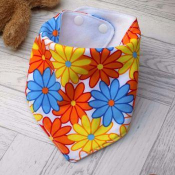 Bright Floral Bandana Bib