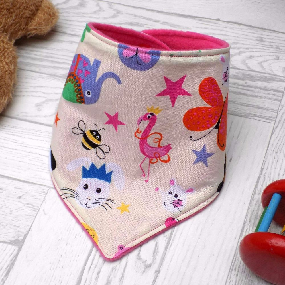 Circus Animals Bandana Bib