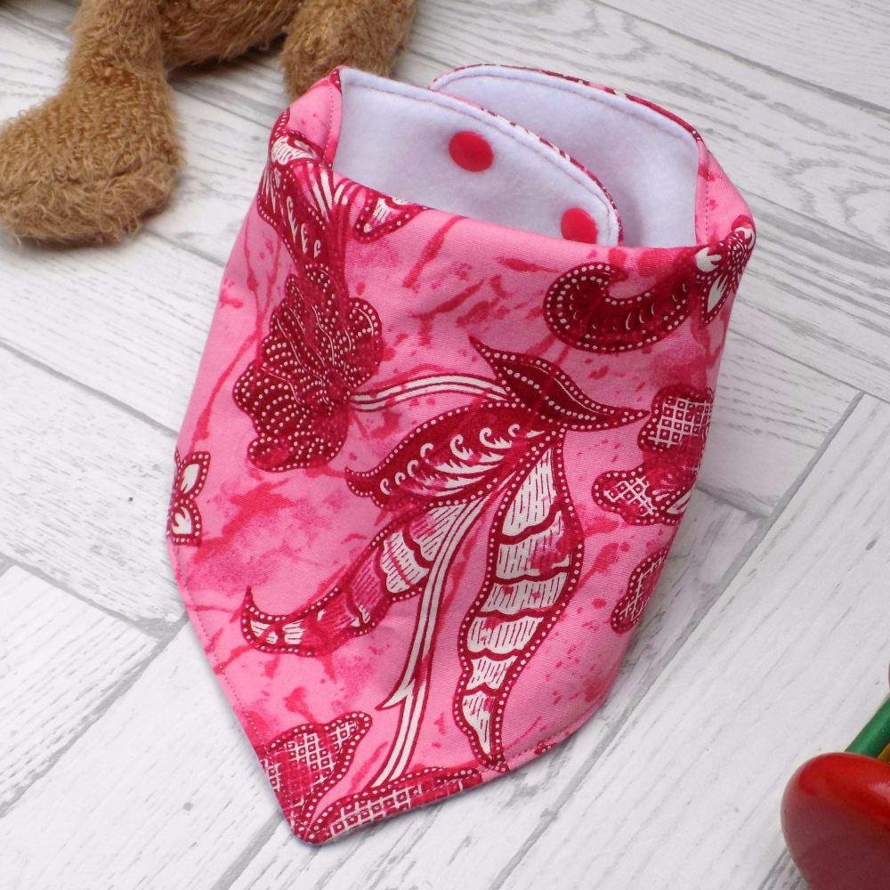 Pink Paisley Bandana Bib