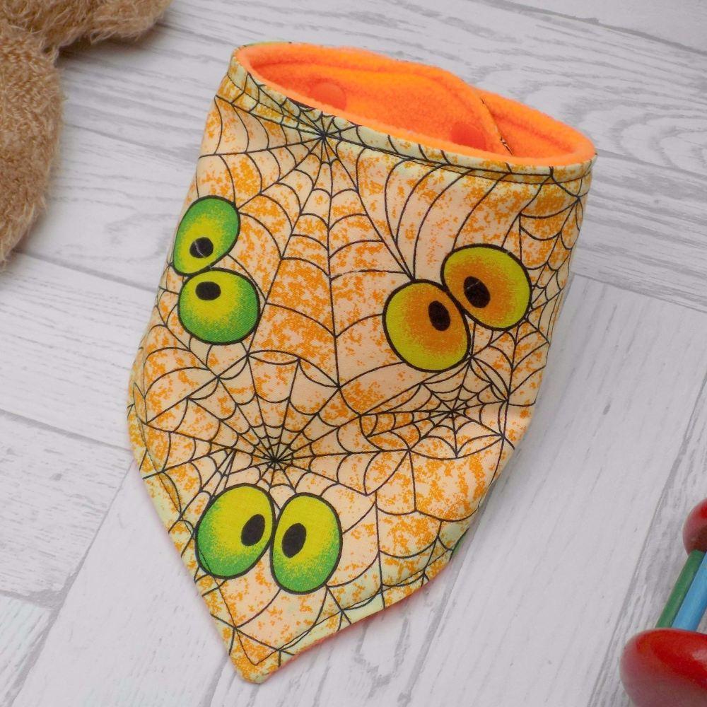 Spooky Spiderweb Bandana Bib