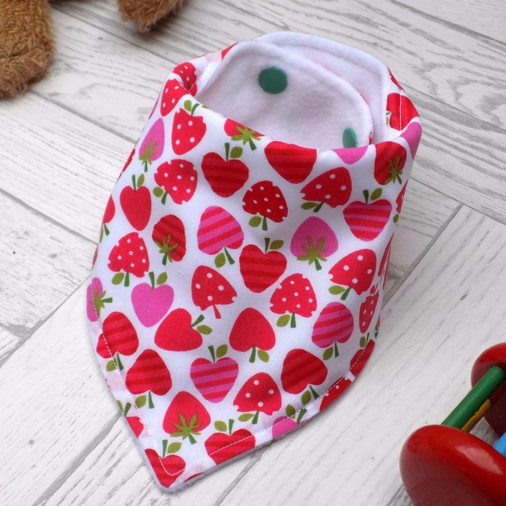 Strawberries Bandana Bib