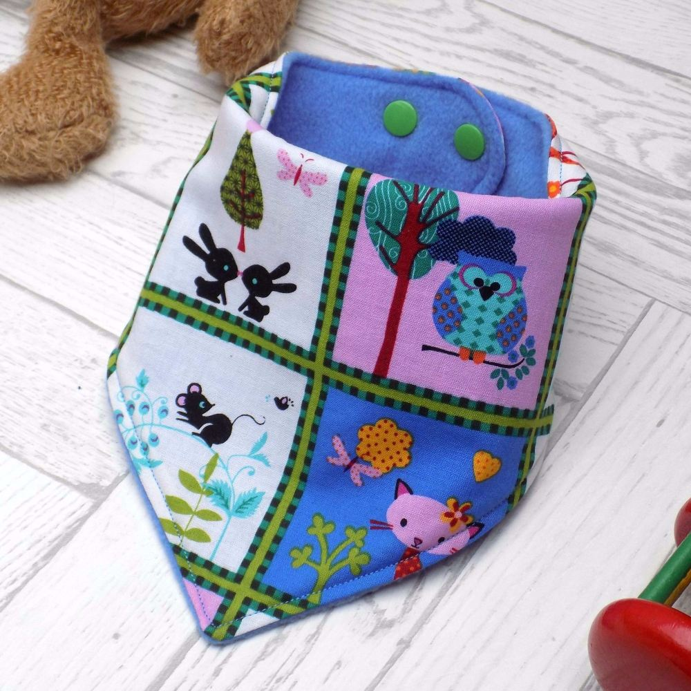 Woodland Animals Bandana Bib