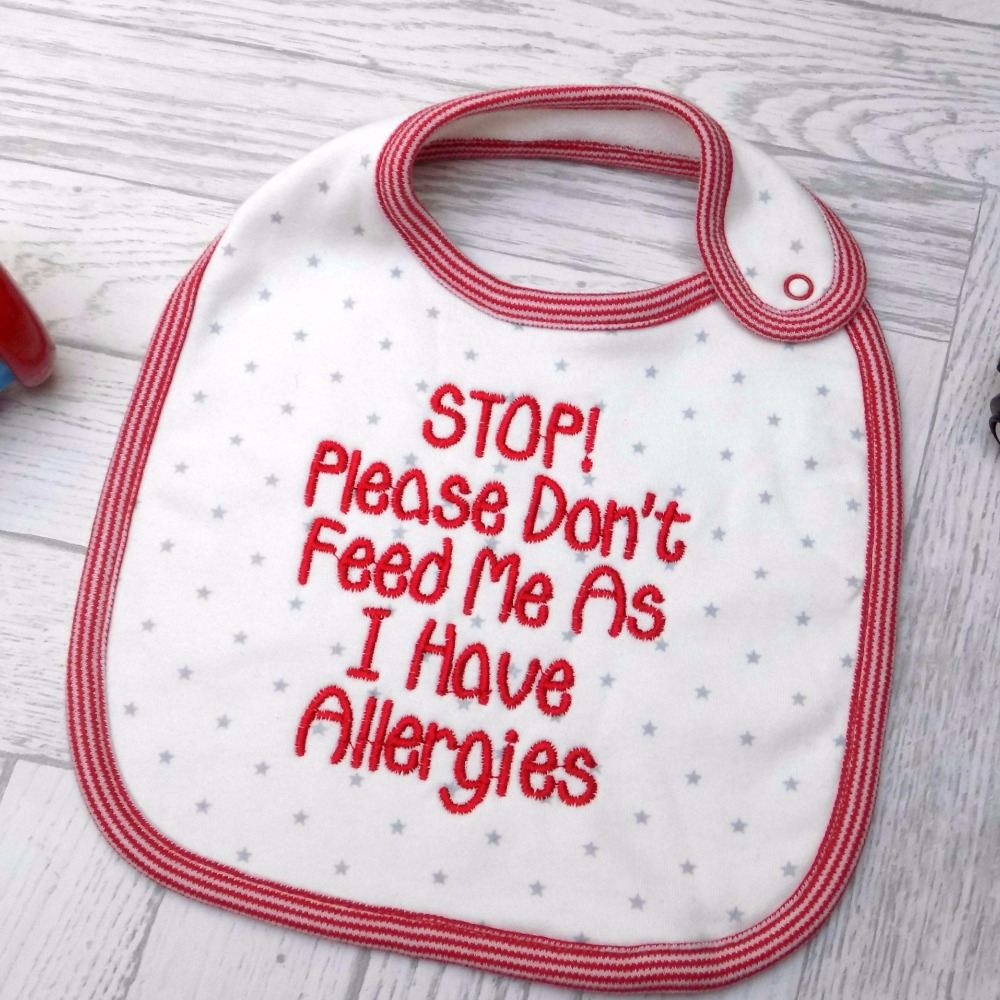 Allergy Awareness Bibs and Clothing