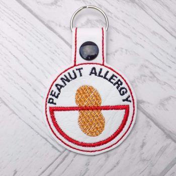 Peanut Allergy Medic Alert Keyring