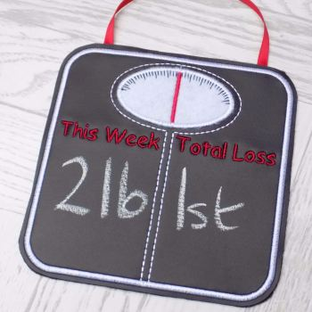 Weight Loss Chalkboard