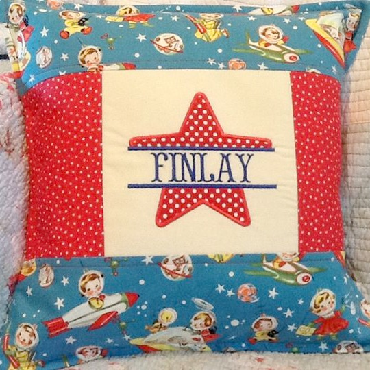 Personalised Star Applique Cushion