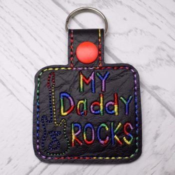 My Daddy Rocks Keyring