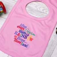 Rainbow of Hope Bib